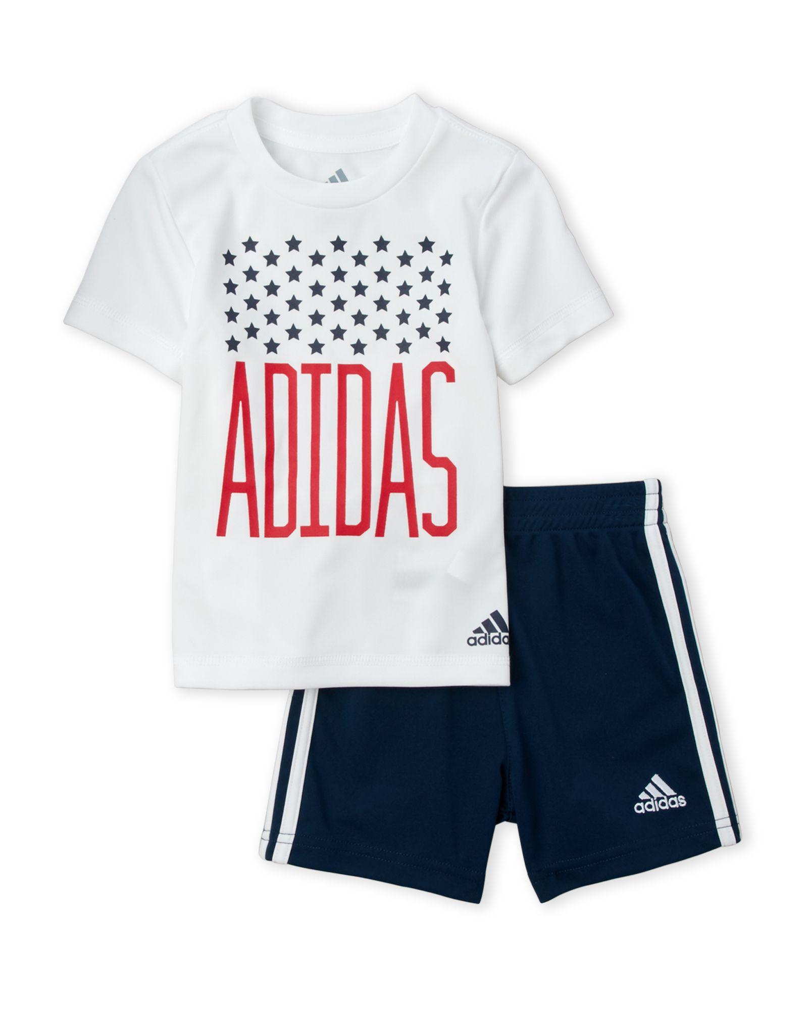 2f648d0d Infant Boys) Two-Piece White Logo Tee & Navy Shorts Set   *Apparel ...