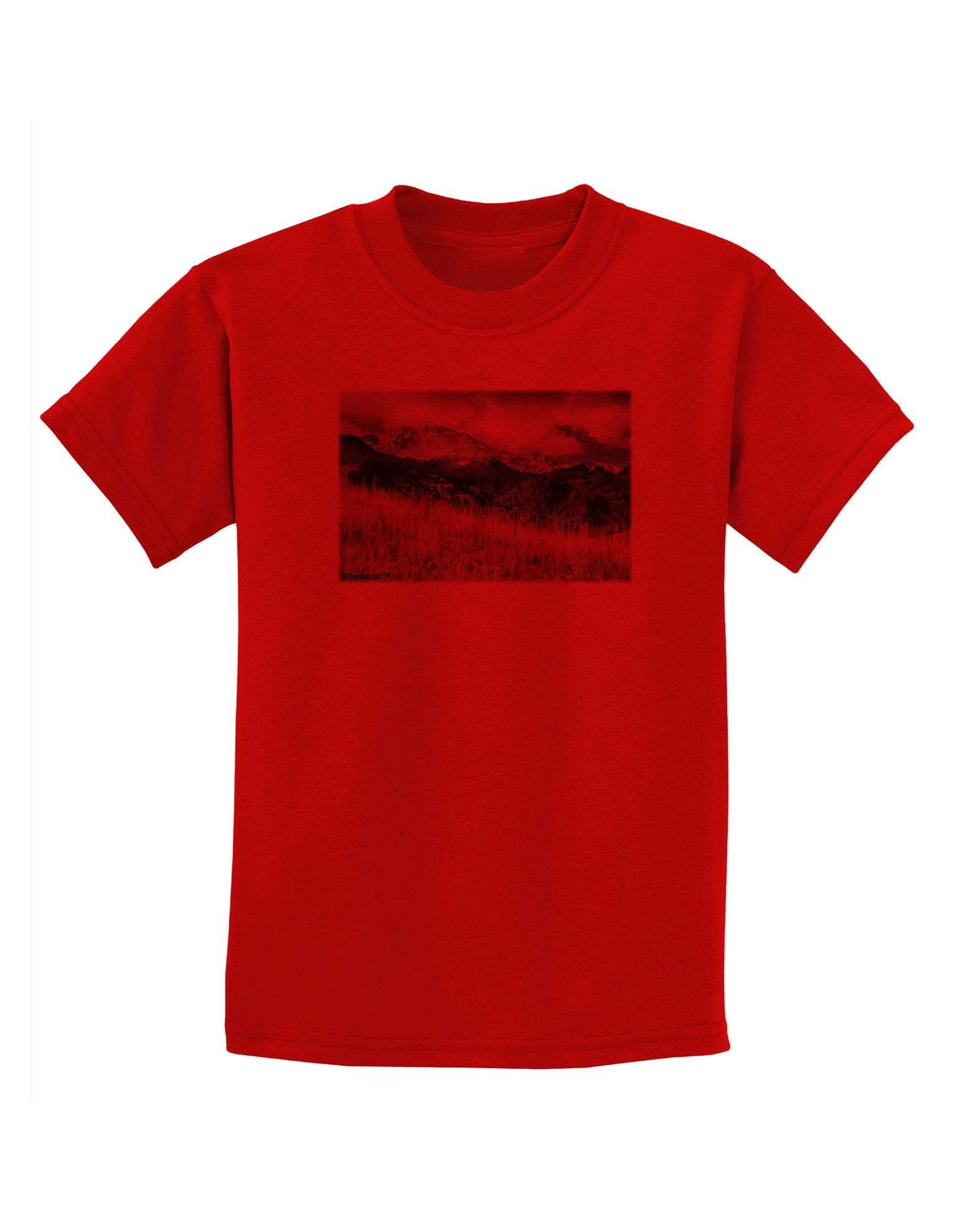 Pikes Peak CO Mountains Childrens T-Shirt by TooLoud