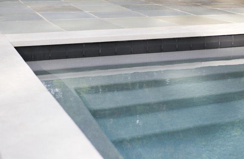 Gray Stones In Potomac Md Pearl Pearl Plastering Pool Tile Waterline Pool Tile Pool Colors