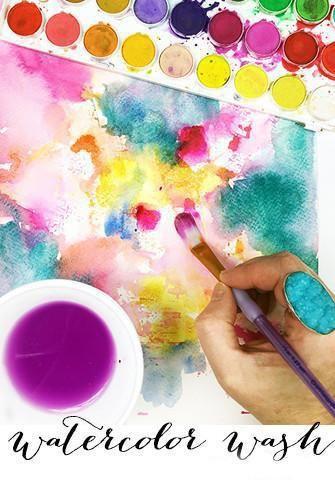 Watercolor Wash Alisa Burke Creative Class Online Art