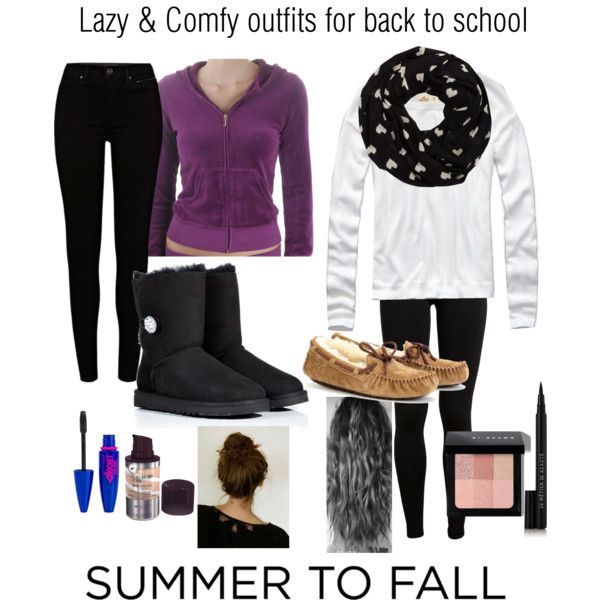Lazy and comfy back to school outfits | School outfits Comfy and Lazy outfits