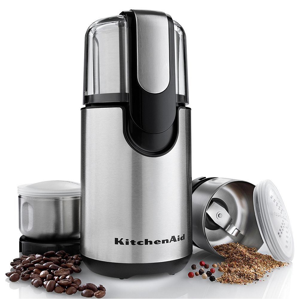 Kitchenaid bcg211ob stainless steel coffee spice grinder