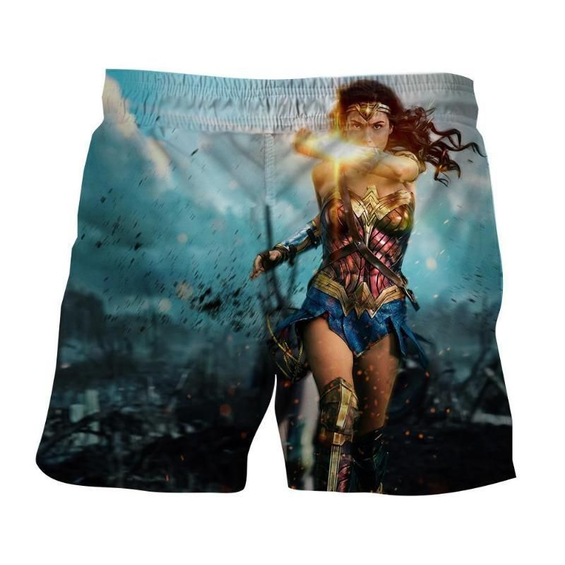 4e68b8d605900 Wonder Woman Ready To Save On Messy Fight Scene Boardshorts | Best Superhero  Prints and Designed Boardshort Collection | Woman beach, Wonder Woman, ...