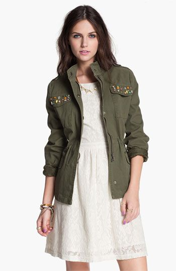 jolt embellished utility jacket