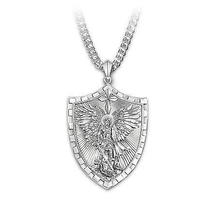 Triumph of st michael pendant necklace st michael pendant and mens necklace triumph of st michael pendant necklace mozeypictures Gallery