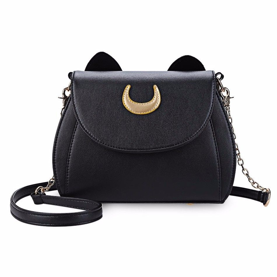 06f5743f26ad Ladies Handbag Black Luna Cat Shape Chain Shoulder Bag | VOGUISH Bag ...