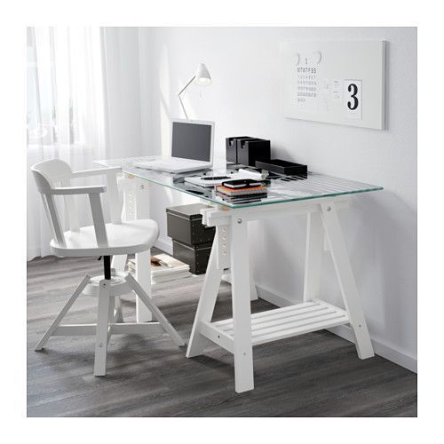 Glasholm finnvard mesa vidrio motivo oval blanco ikea new home despacho mesas estudio - Ikea mesas despacho ...
