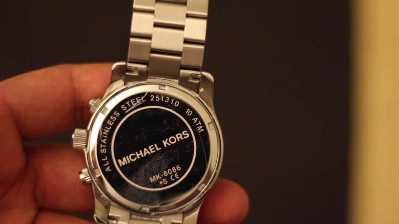 How to change Michael Kors MK 8086 Watch Battery Micheal