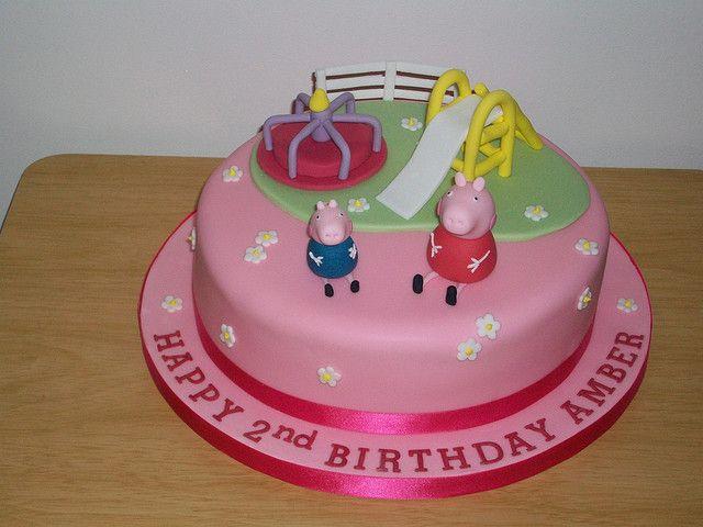 Peppa Pig And George Playground Cake Playground Cakes Pinterest