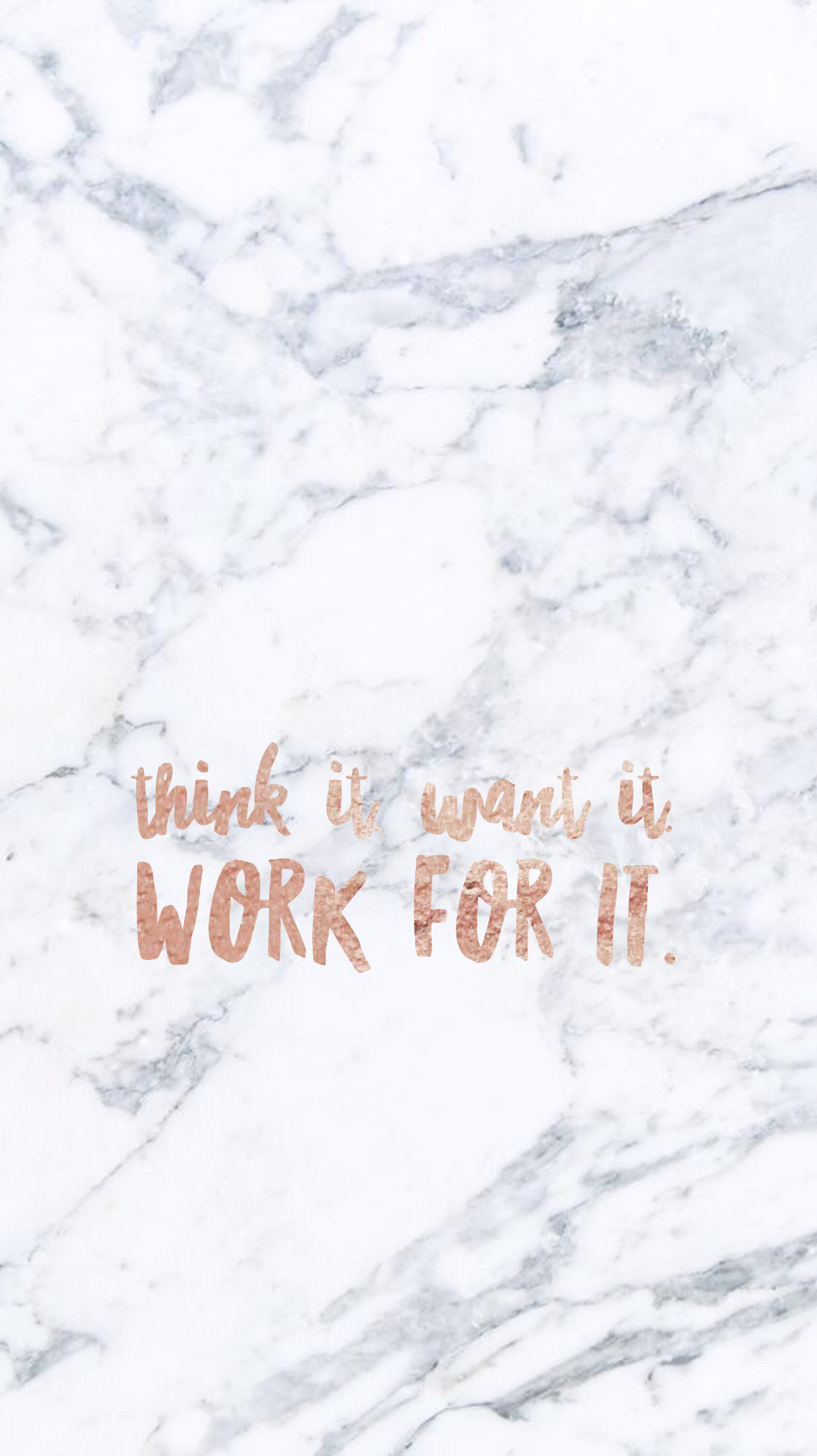 Think it want it work for it marble iPhone wallpaper (With