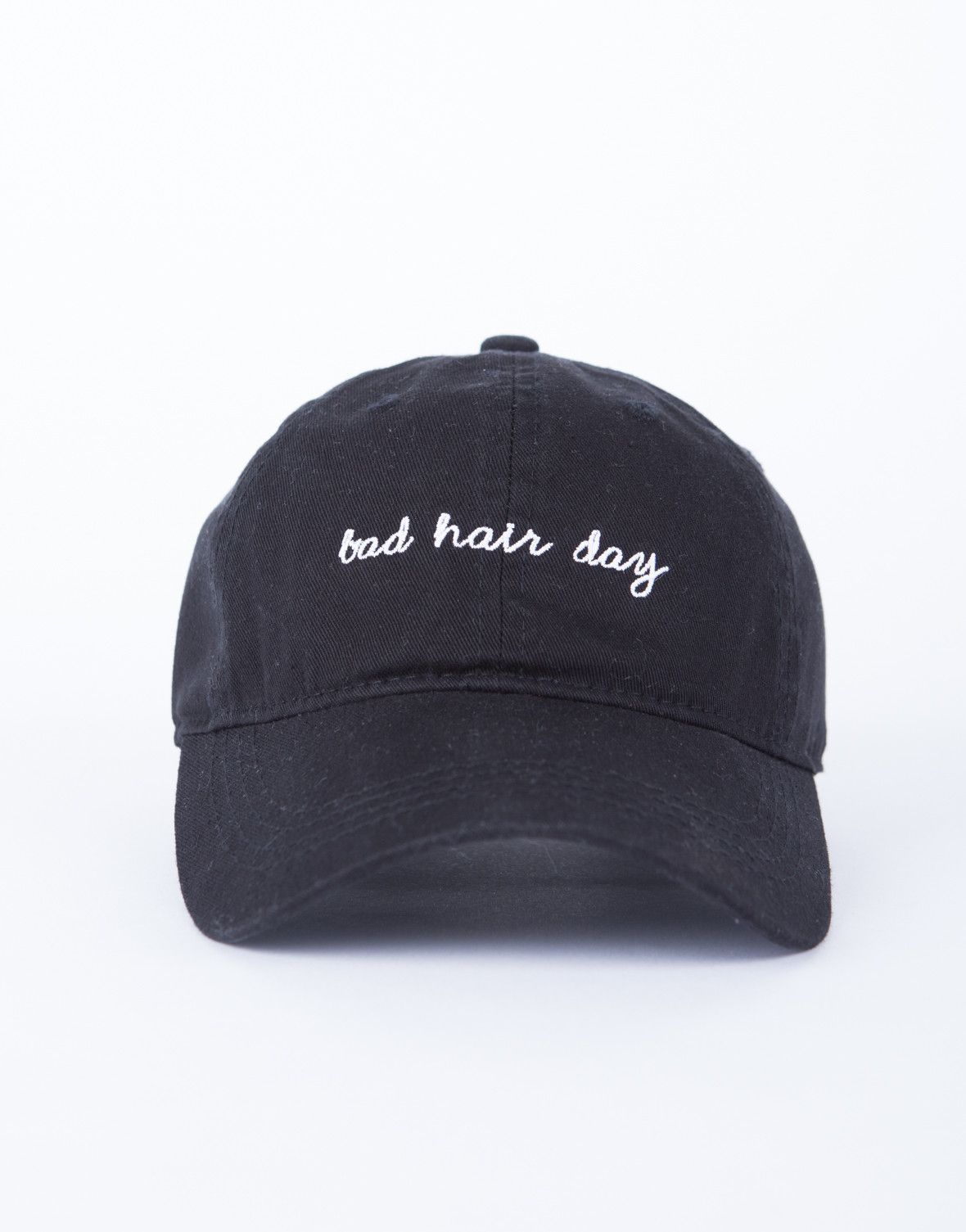 Bad Hair Day Cap -Black Baseball Cap - Embroidered Patch Hat – 2020AVE