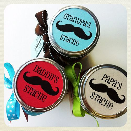 Fathers Day Gift: Daddys Stache Candy Jar