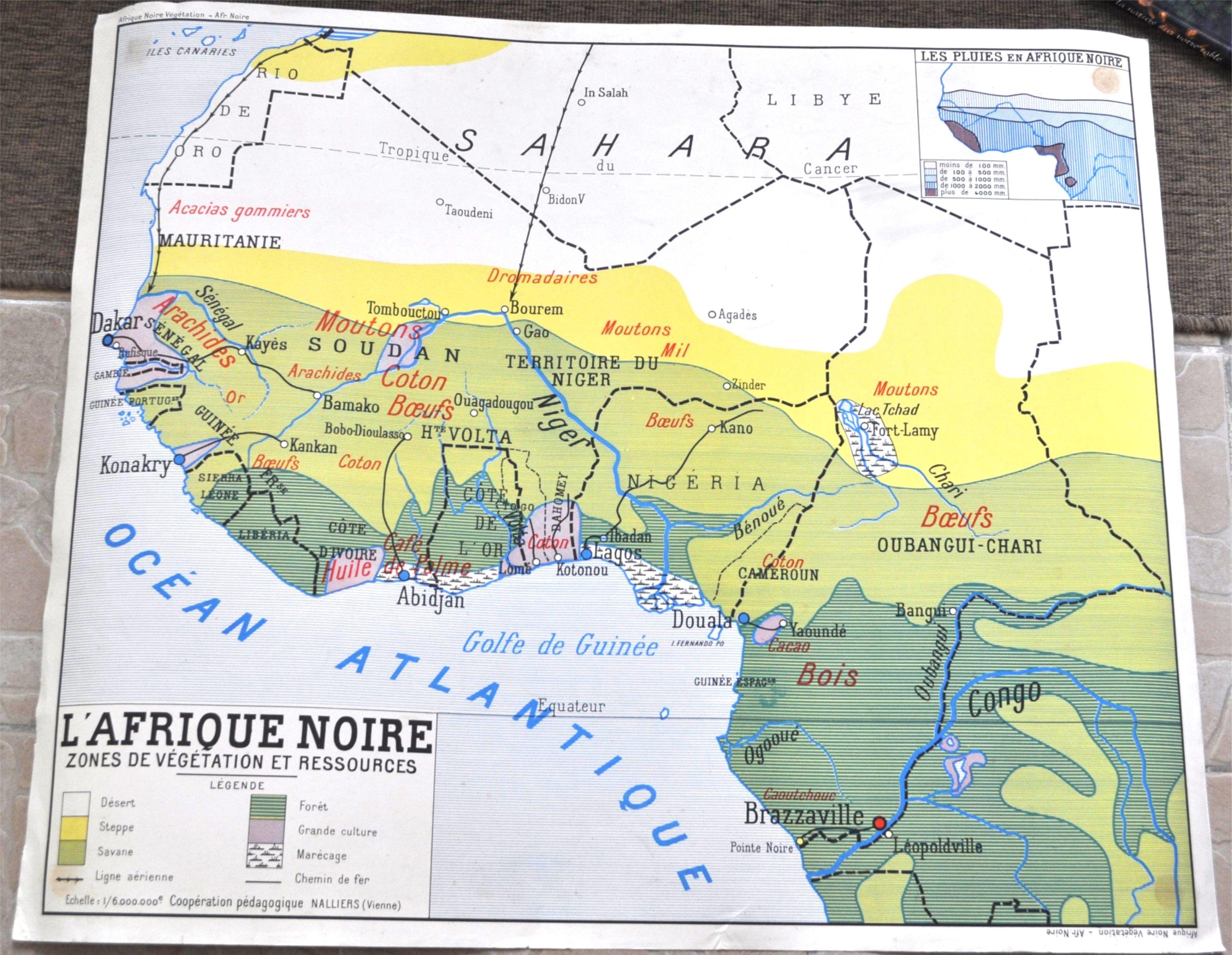 Carte Afrique Gao.Carte Scolaire Afrique Noire Cartes Geo Affiches