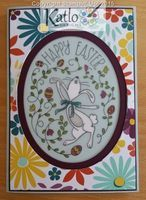 Fun, bright Easter Card featuring Happy Easter Bunny Stamp Set from Stampin' Up! and the card front is a Project Life card from the PLxSU range This Life Mini Card Kit.