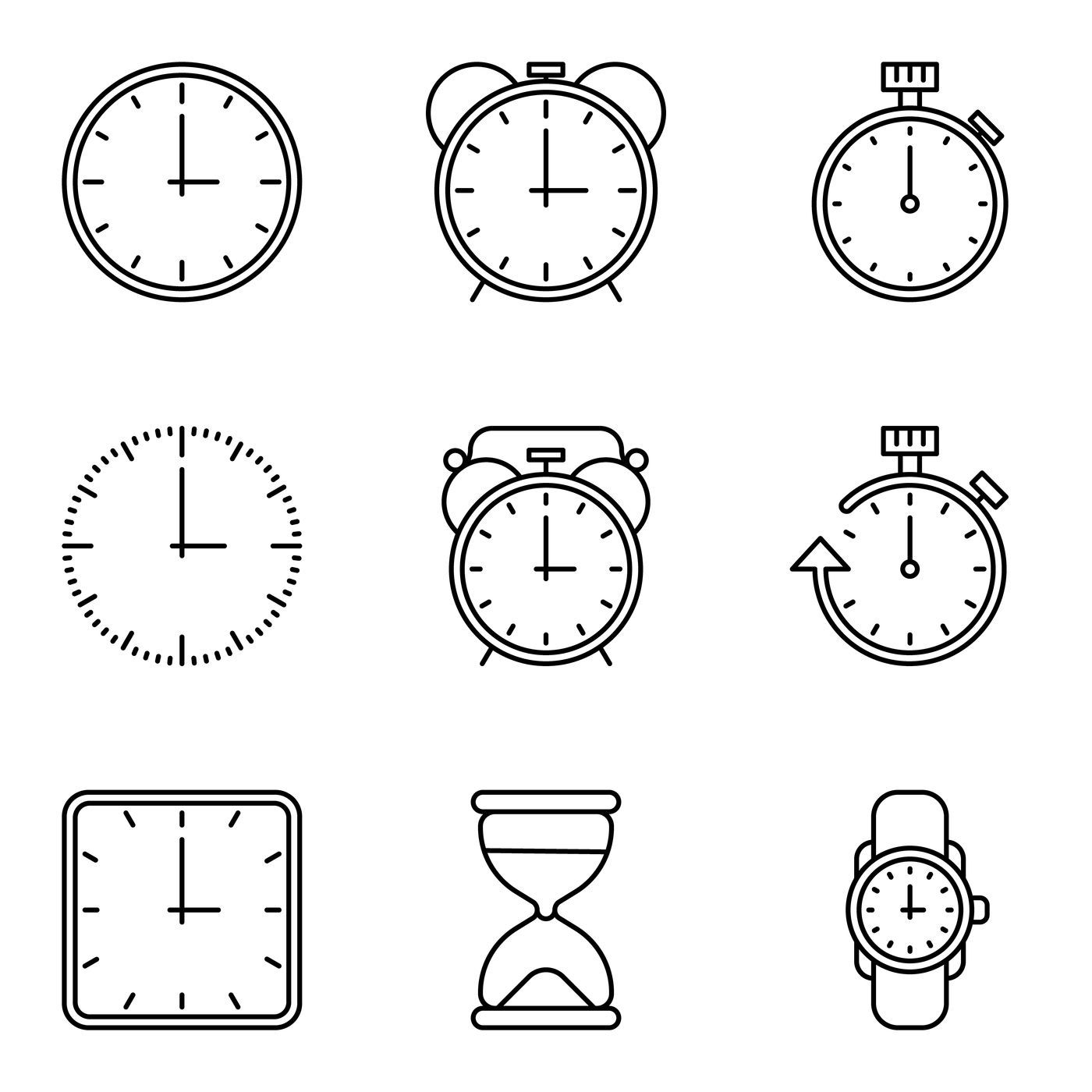 Pin by Sjoberg on Business Flyer Event Clock icon, Time