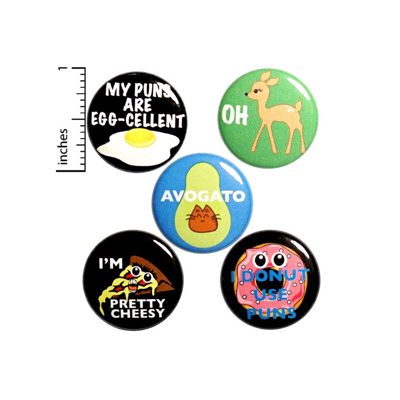Pun Pin For Backpack Buttons Or Fridge Magnets Lapel Pins Etsy Backpack Pins Funny Buttons Pun Gifts