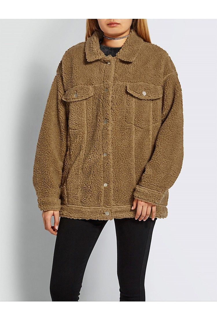 famous designer brand shop for official quality and quantity assured MISSGUIDED Oversized teddy-bear jacket | Wardrobe | Teddy ...