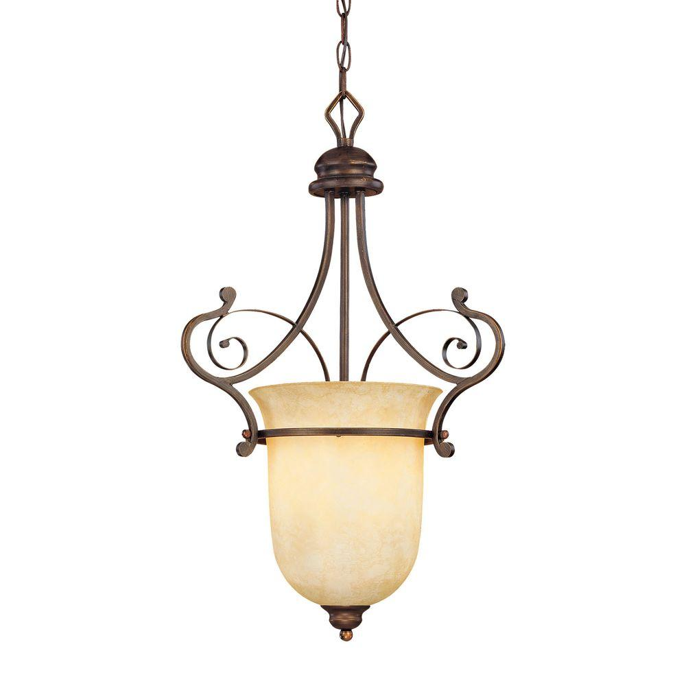 Millennium Lighting 1 Light Rubbed Bronze Pendant With Turinian