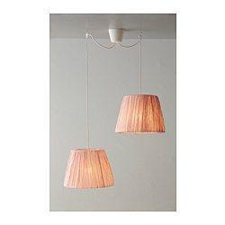IKEA - HEMSTA, Lampeskærm, 20 cm, , Skærmen af tekstil gi'r et diffust og dekorativt lys.
