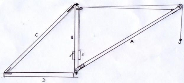 Derrick crane, Scotch derrick crane, homemade crane, homebuilt crane