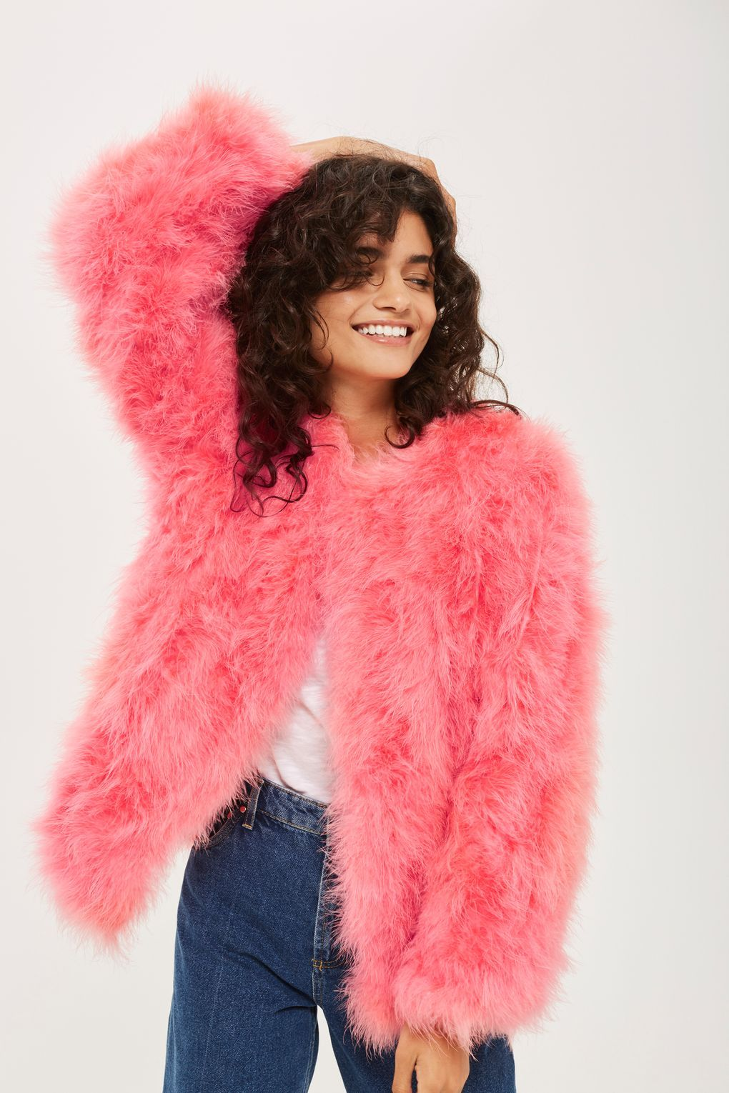 c903a3afabb Buying a fur jacket in summer may seem counterintuitive, but when a hot  pink Marabou feather offering drops at Topshop, we can't resist.