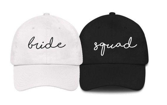 9091fc7c0 Bridesmaid hats, bride hat, Squad Hat, Bachelorette Party Hat ...