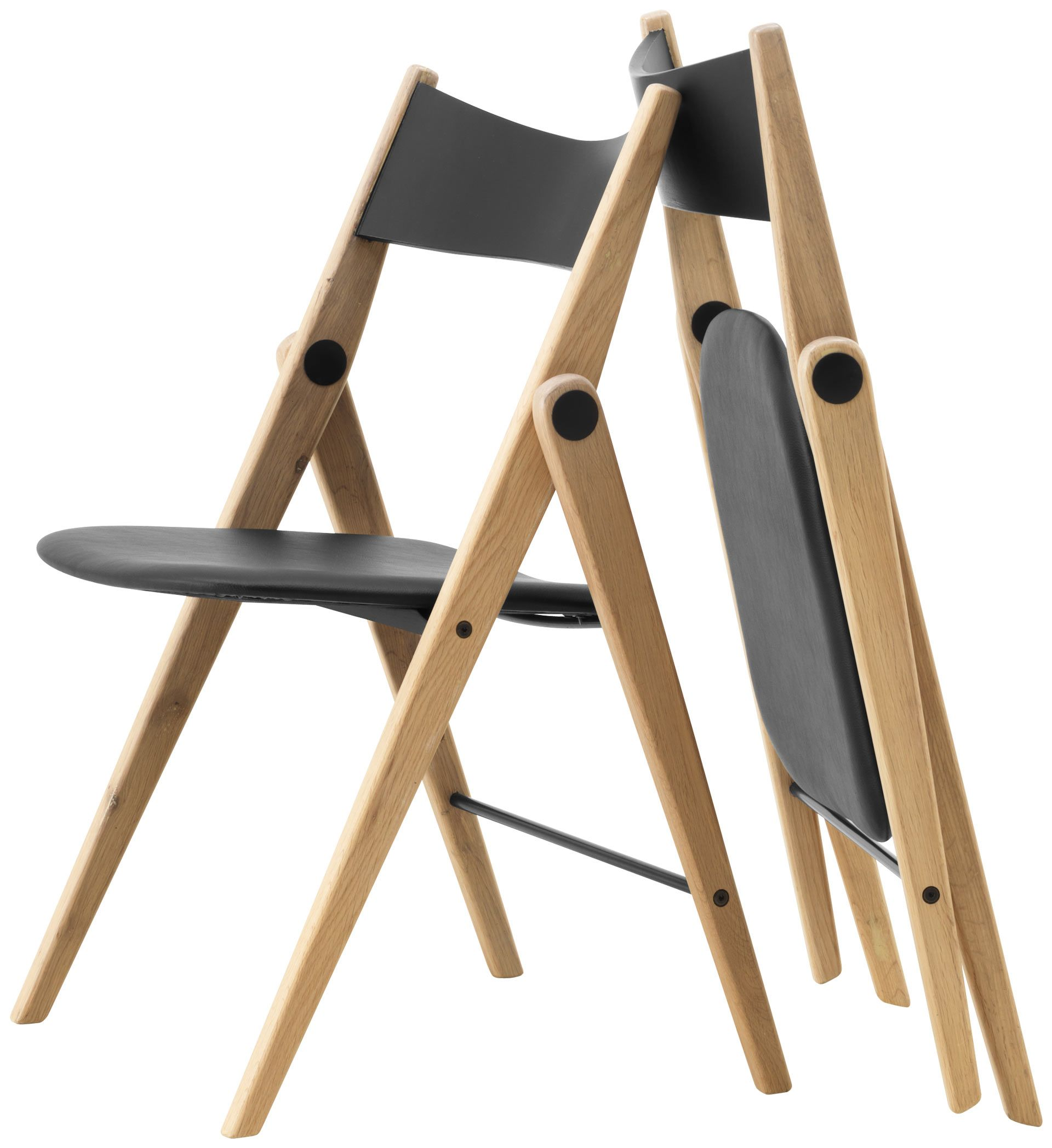 folding chairs wood dining. cadeiras - qualidade da boconcept oslo folding chair, black leather look/oak. super. furniturefolding dining chairs wood n