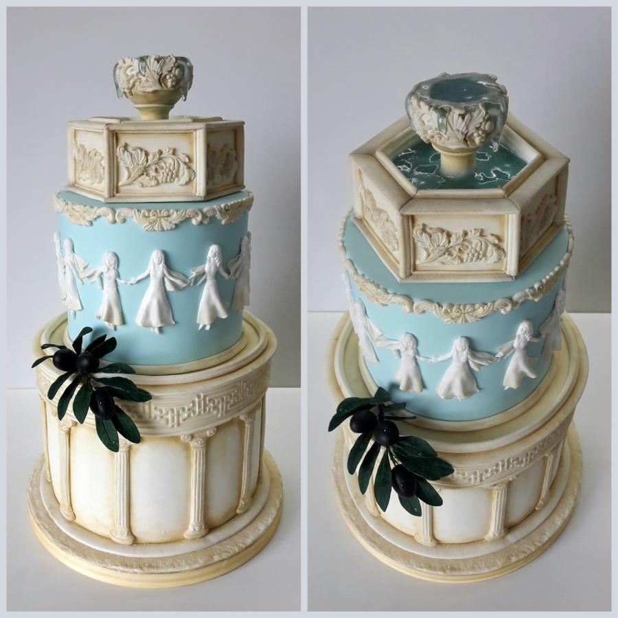 Greek Themed Birthday Cake Cake By Antonia Lazarova Themed Birthday Cakes Percy Jackson Cake Percy Jackson Birthday
