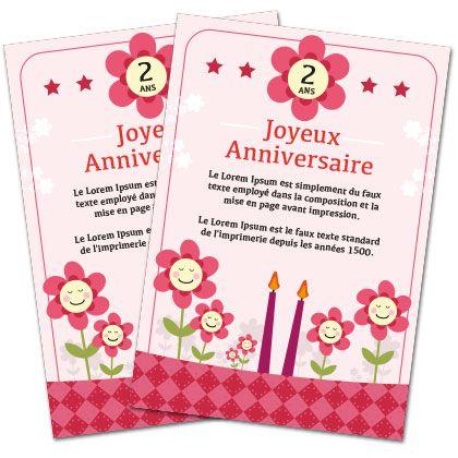 Carte Anniversaire Fille A Imprimer Fleurs Carte Anniversaire
