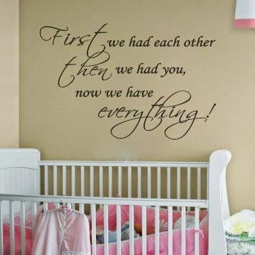 Nursery Room Decal Baby Quotes Wall