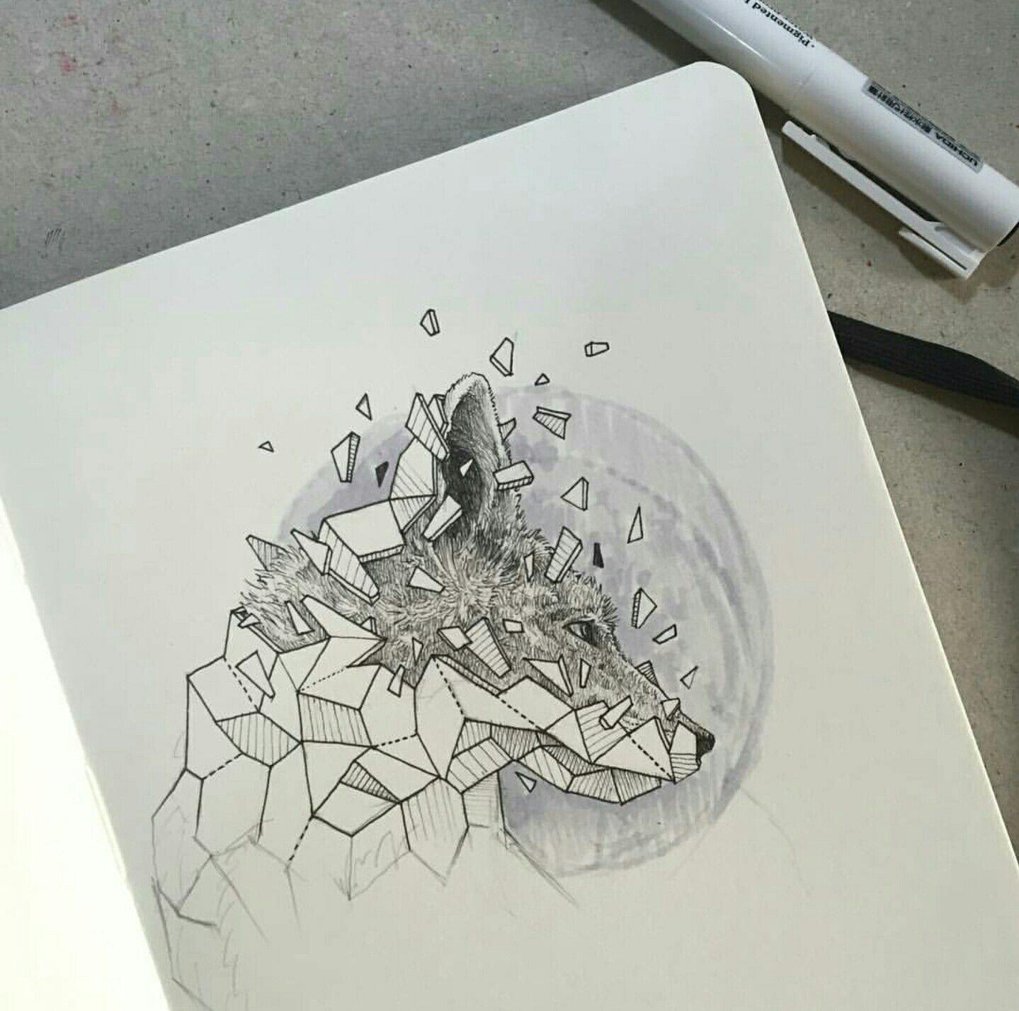 Geometric Beasts   Wolf   Drawing Ideas   Pinterest   Dibujo ...