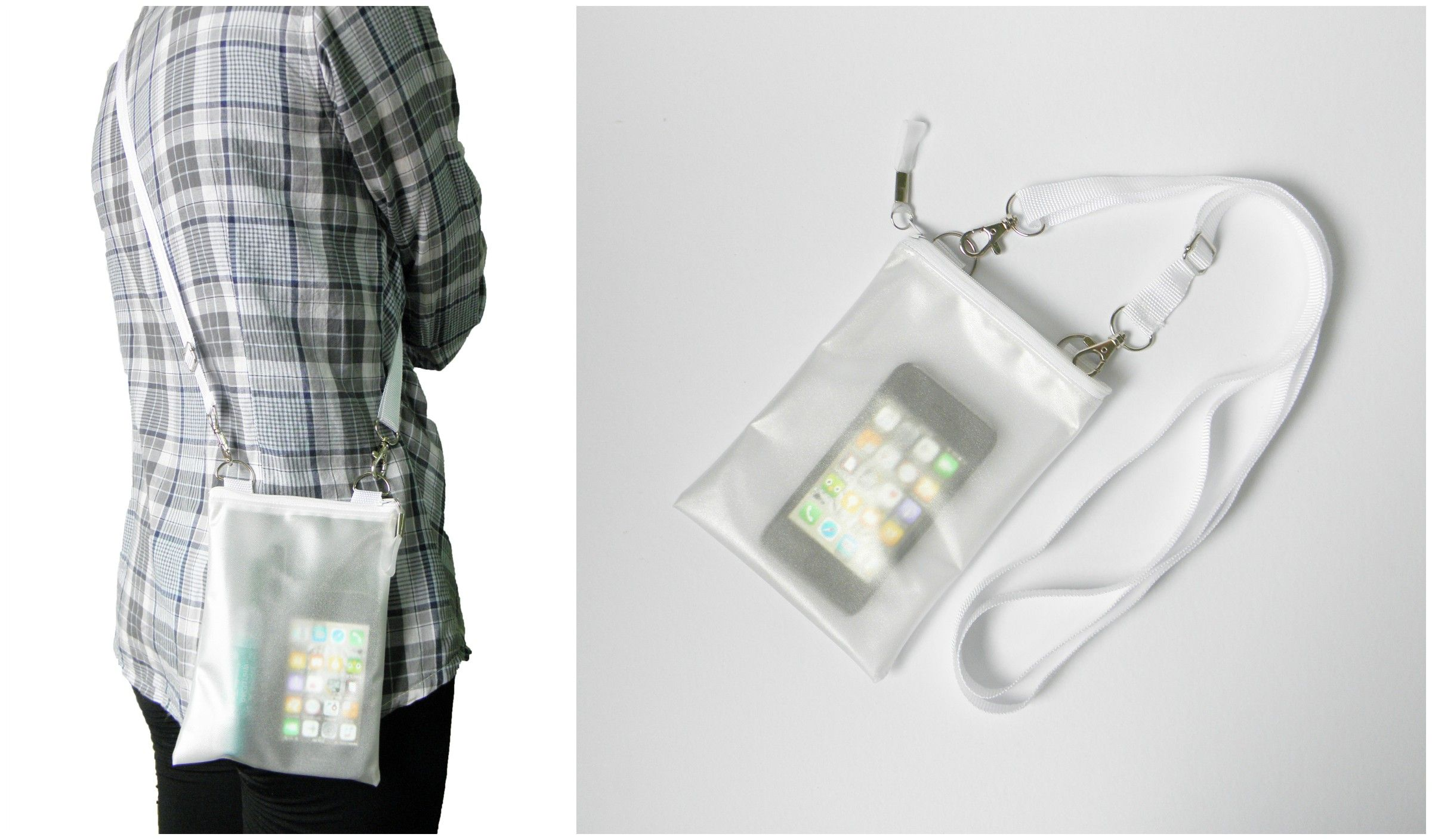 Small White Clear Translucent Iphone Crossbody Bag   Please visit us at www.etsy.com/shop/Trixiesky   to see more of our wonderful products.
