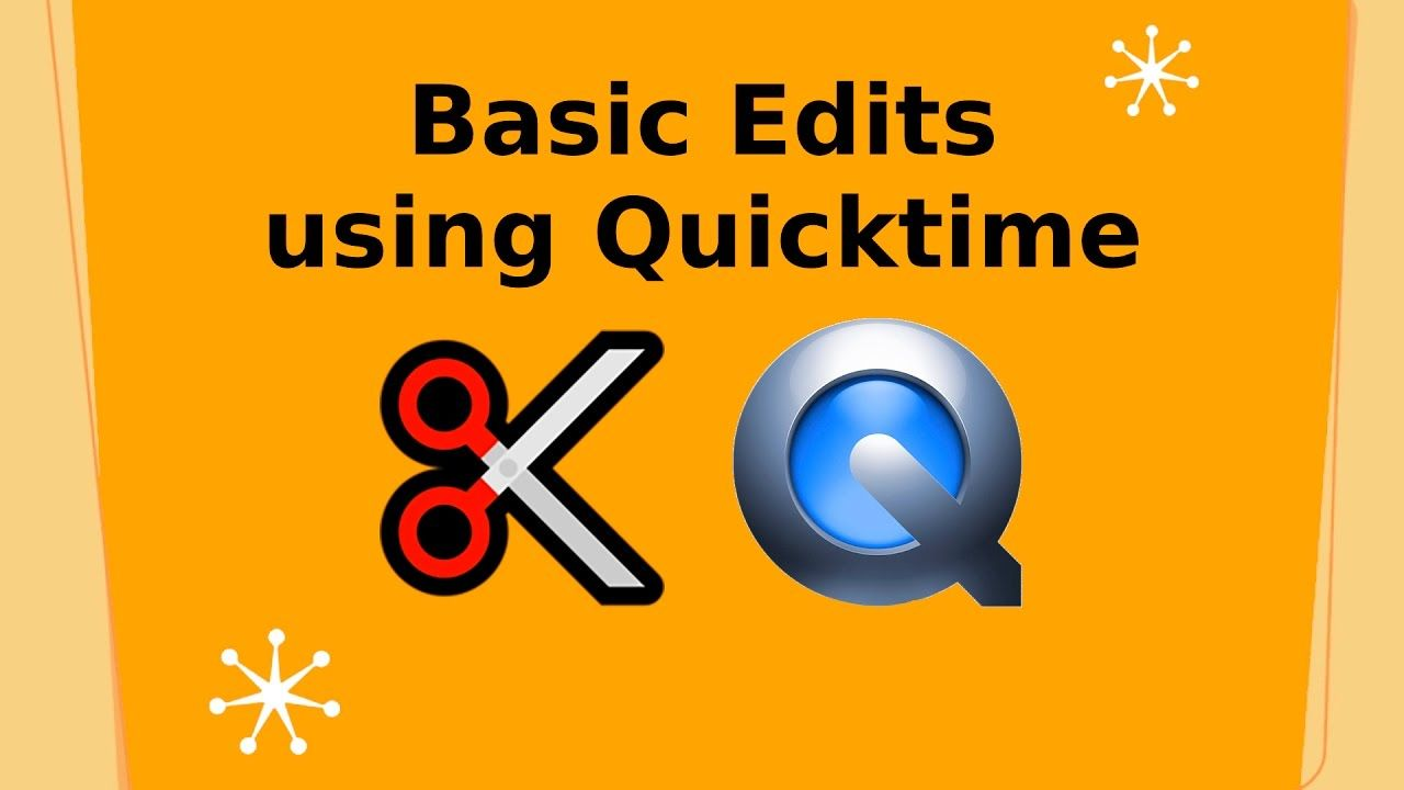 Basic video edits using quicktime for mac web video