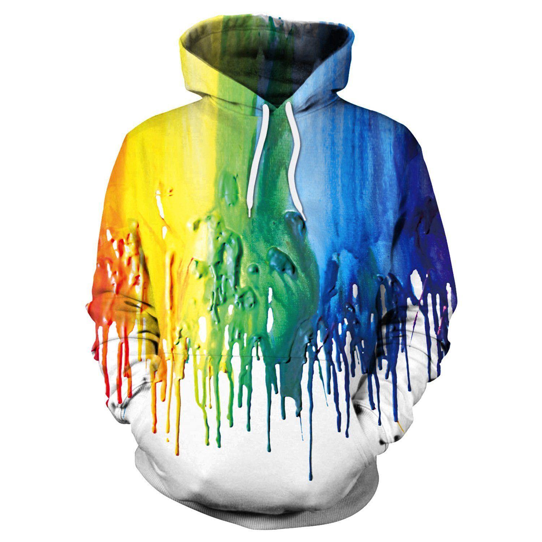 3D Print Colorful Painting  Womens//Mens  Casual Sweatshirt Hoodies Pullover Tops