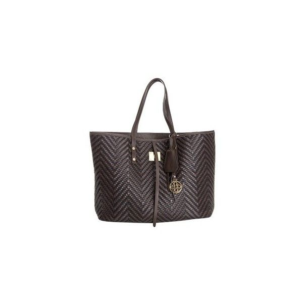 V° 73 Big Laguna Reversebag (€300) ❤ liked on Polyvore featuring bags, handbags, brown, woven leather purse, black handbags, leather purse, black leather purse et woven leather handbag