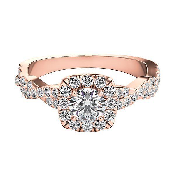 Helzberg Diamond Masterpiece 3 4 Ct Tw Diamond Engagement Ring In 18k Rose Gold 2274305 H Top Engagement Rings Classic Engagement Rings Engagement Rings