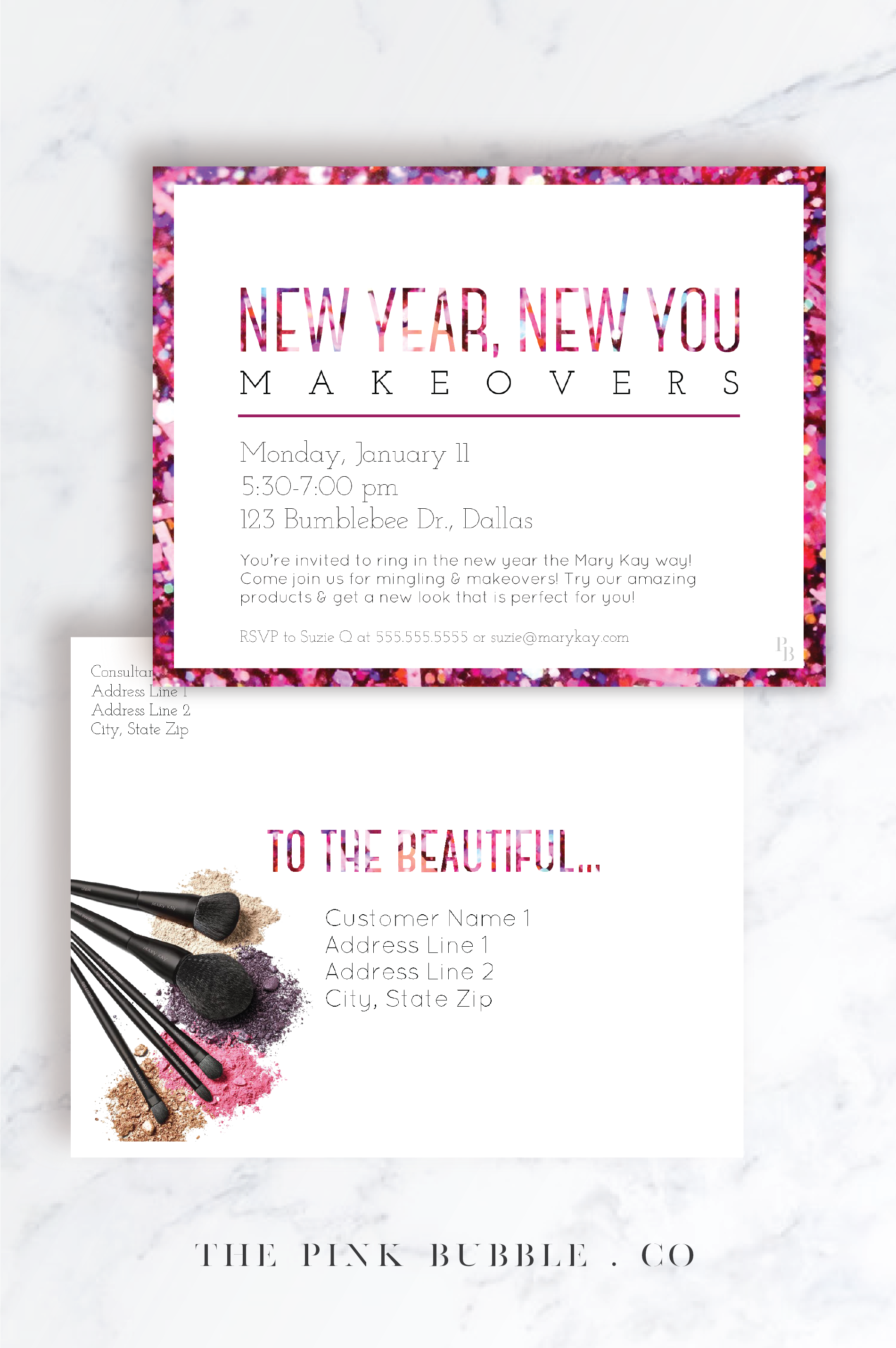 Customizable Mary Kay New Year New You Invitation Www