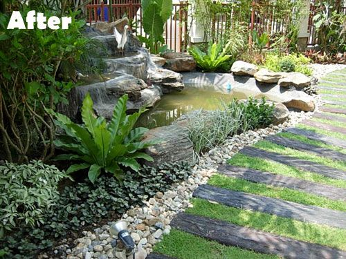 But once you replace it with a natural rock waterfall and for Backyard pond maintenance