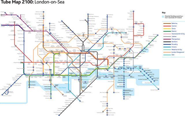 London Underground Subway Map.Tube Map 2100 2 London Underground Map Underground Map London Tube Map