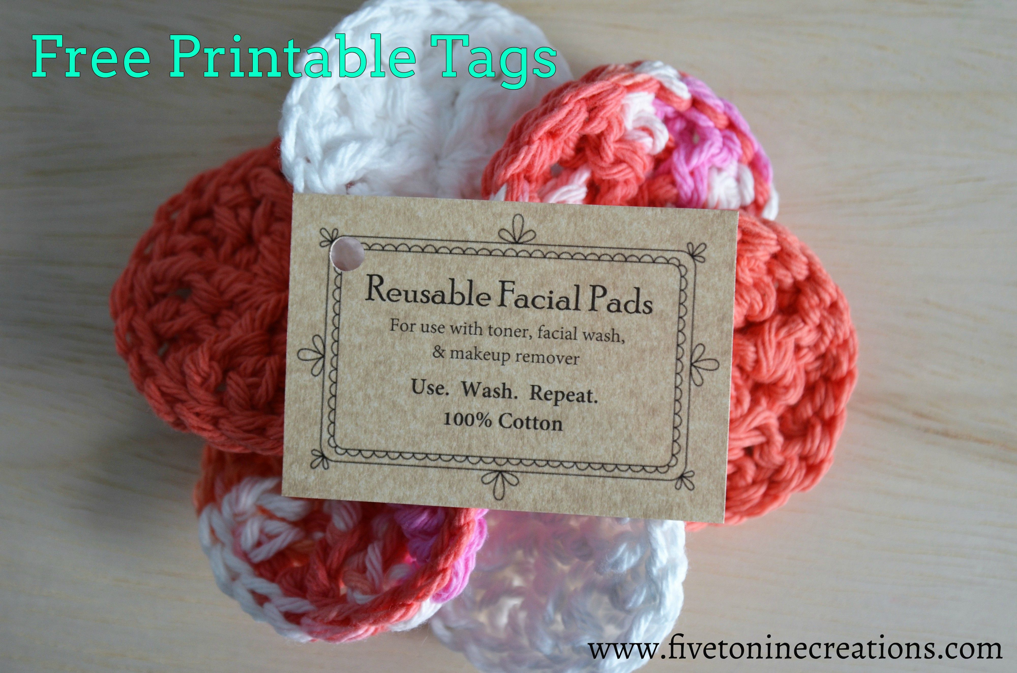 Free Printable Tags For Face Scrubby Pads Comes With Free Crochet