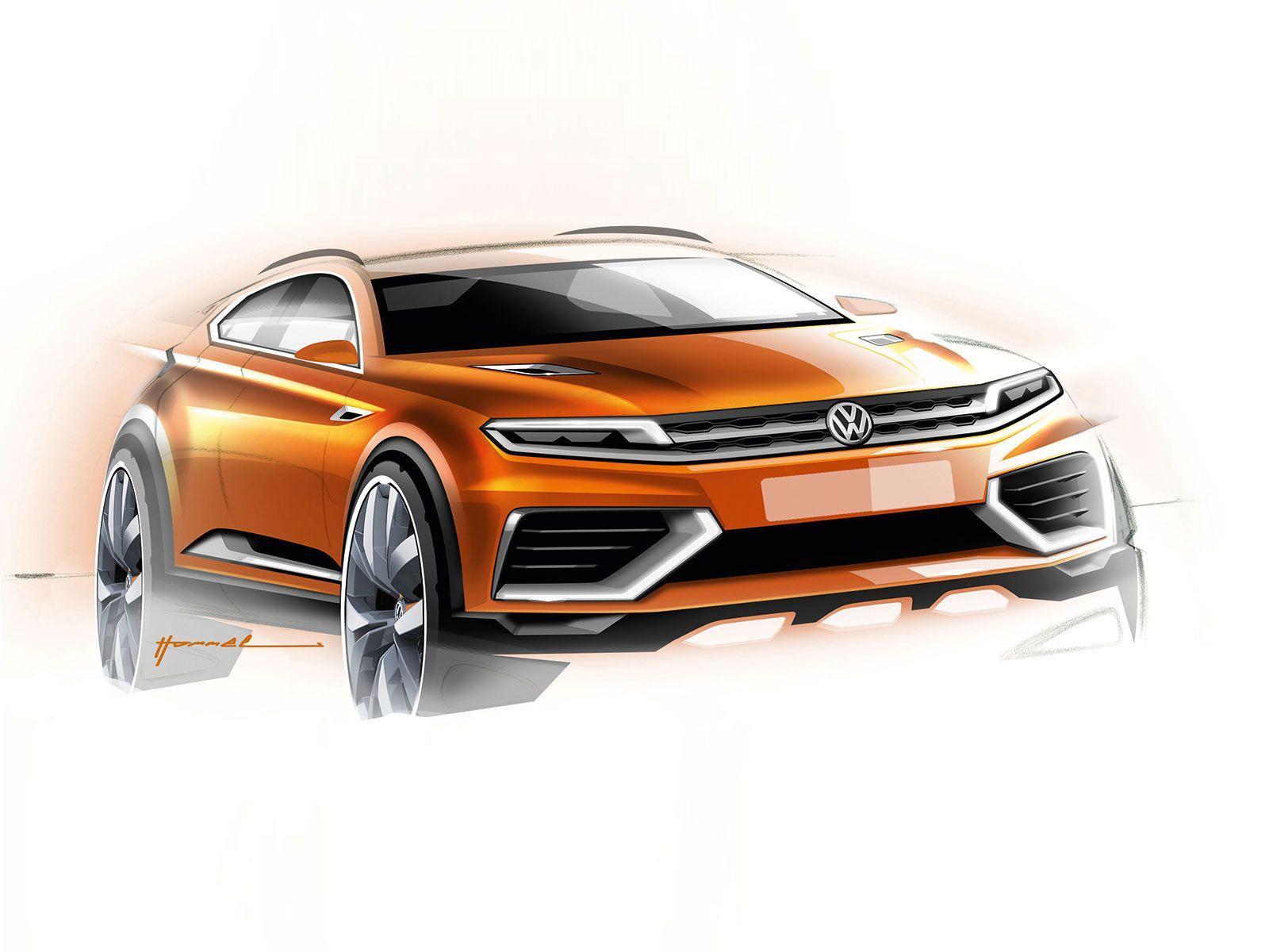 Volkswagen crossblue coupe concept design sketch