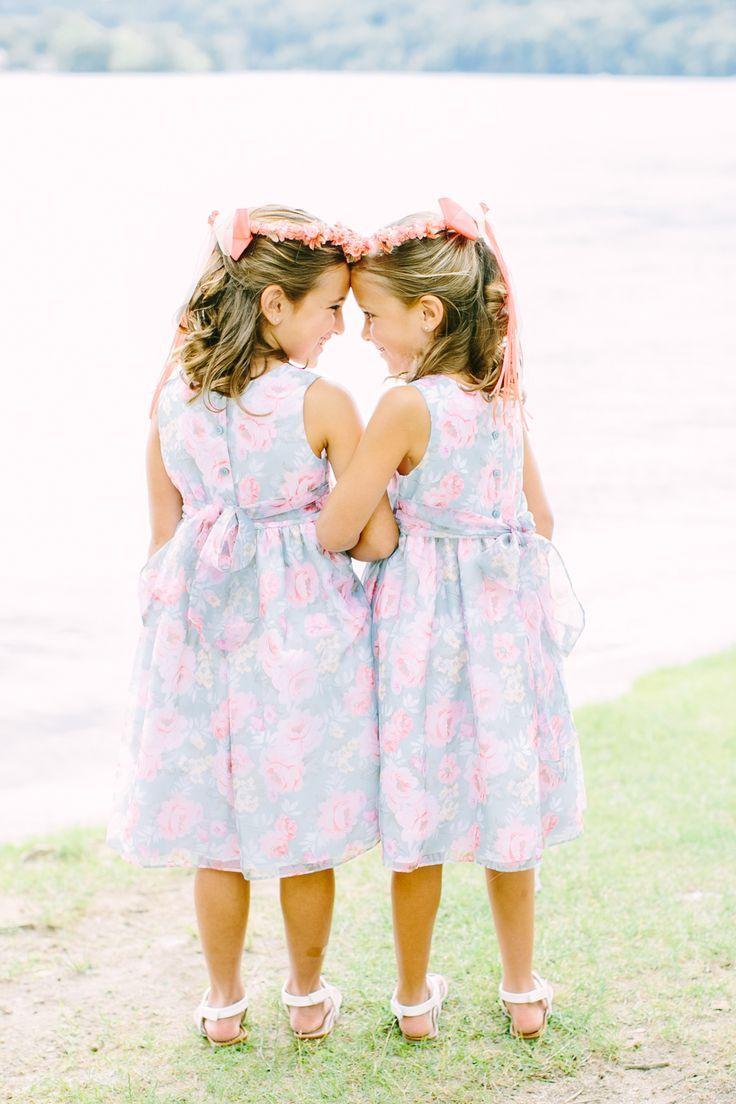 Rustic wedding flower girl dresses  Summer New Jersey Lakeside Wedding  Flower girl dresses Girls