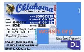 Template Oklahoma Drivers License Editable Photoshop File Psd Permit Photo Plumbing