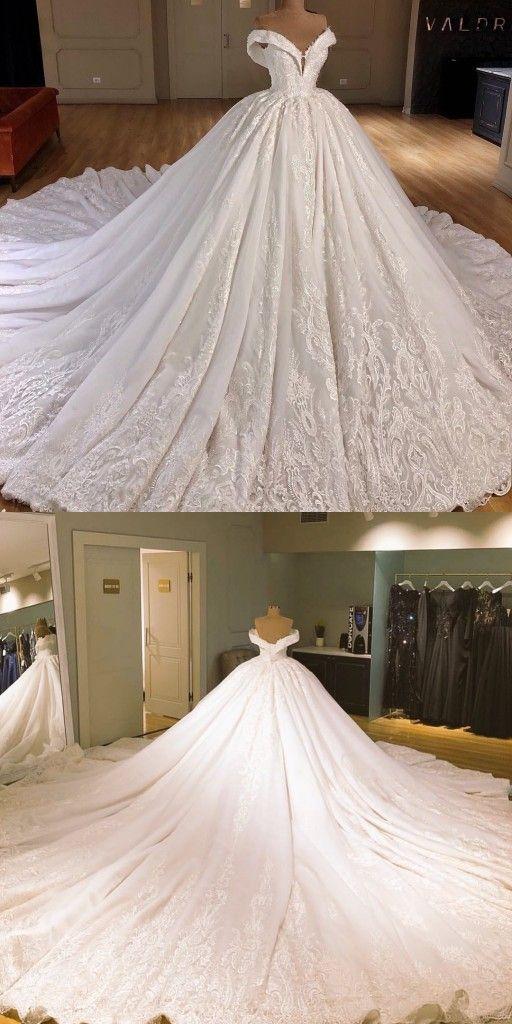 Luxury A Linie Brautkleider Spitze Günstige Hochzeitskleider Online