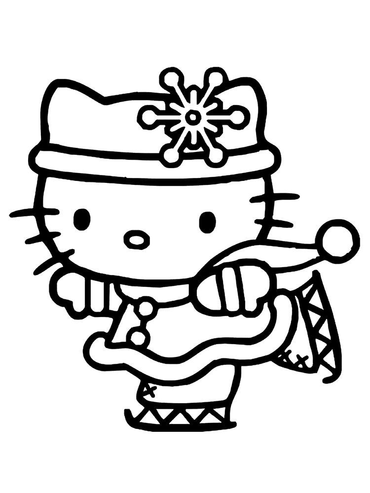 Christmas Winter Coloring Pages Winter Is Snow It Is An Inseparable Thing Winter Is Always Kitty Coloring Hello Kitty Printables Hello Kitty Colouring Pages