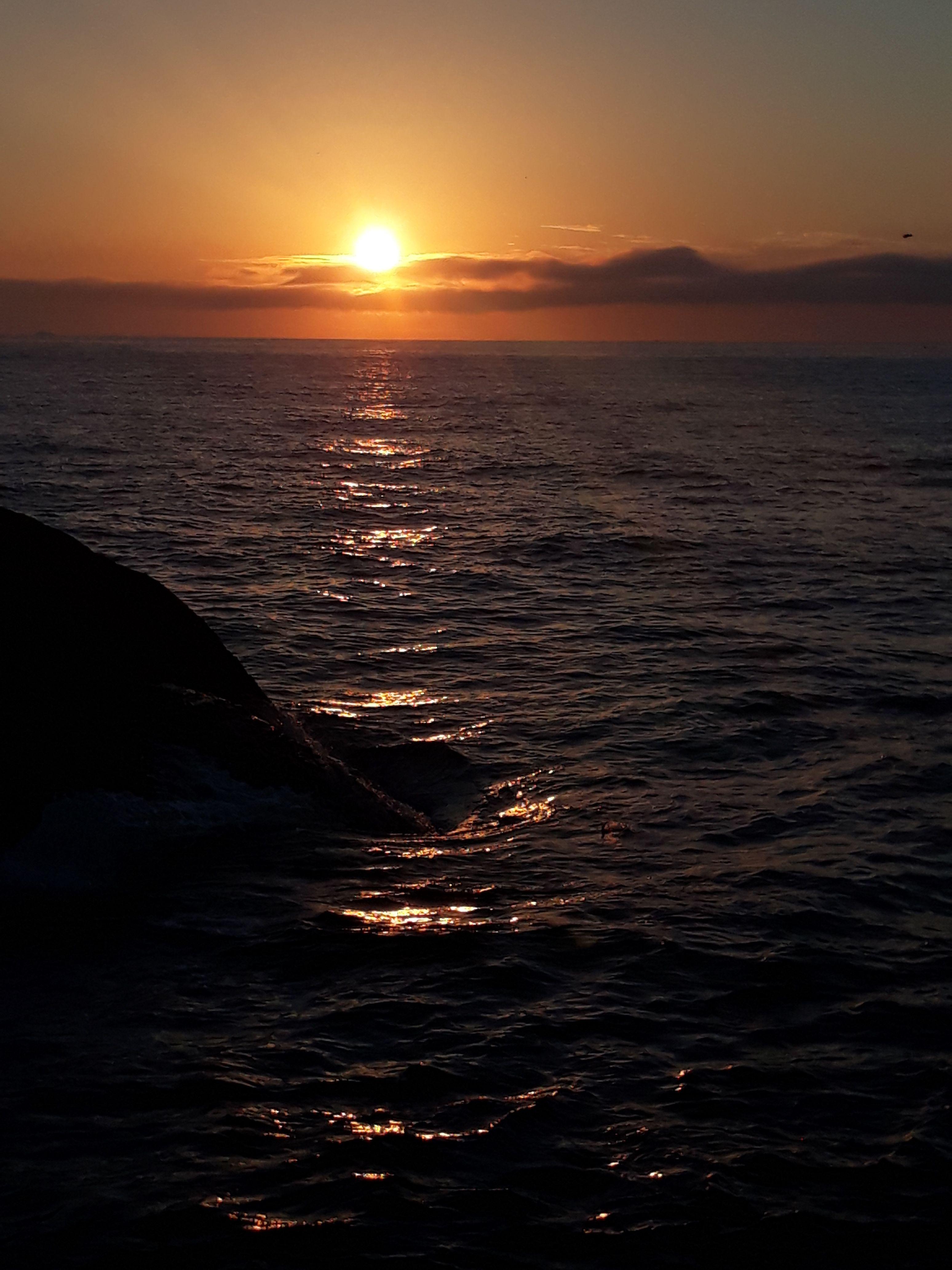 Praia Sol Amanhecer Nuvens Ceu Mar Simples Natureza