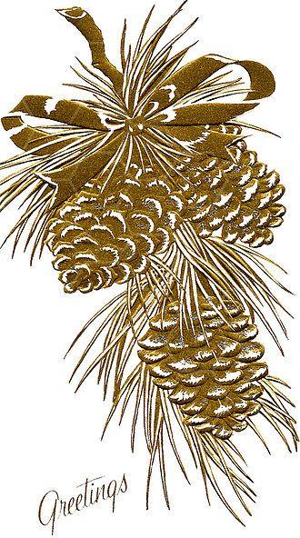Holly, Wreath & Pine Cone Art