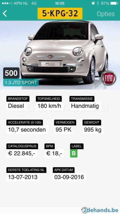 Fiat 500 cabrio  - Te koop in Maaseik