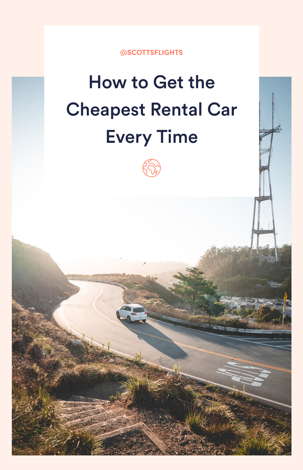 Save these tips to save the most money on your rental car every time. #travel #traveltips #cheaptravel #rentalcar #roadtrip
