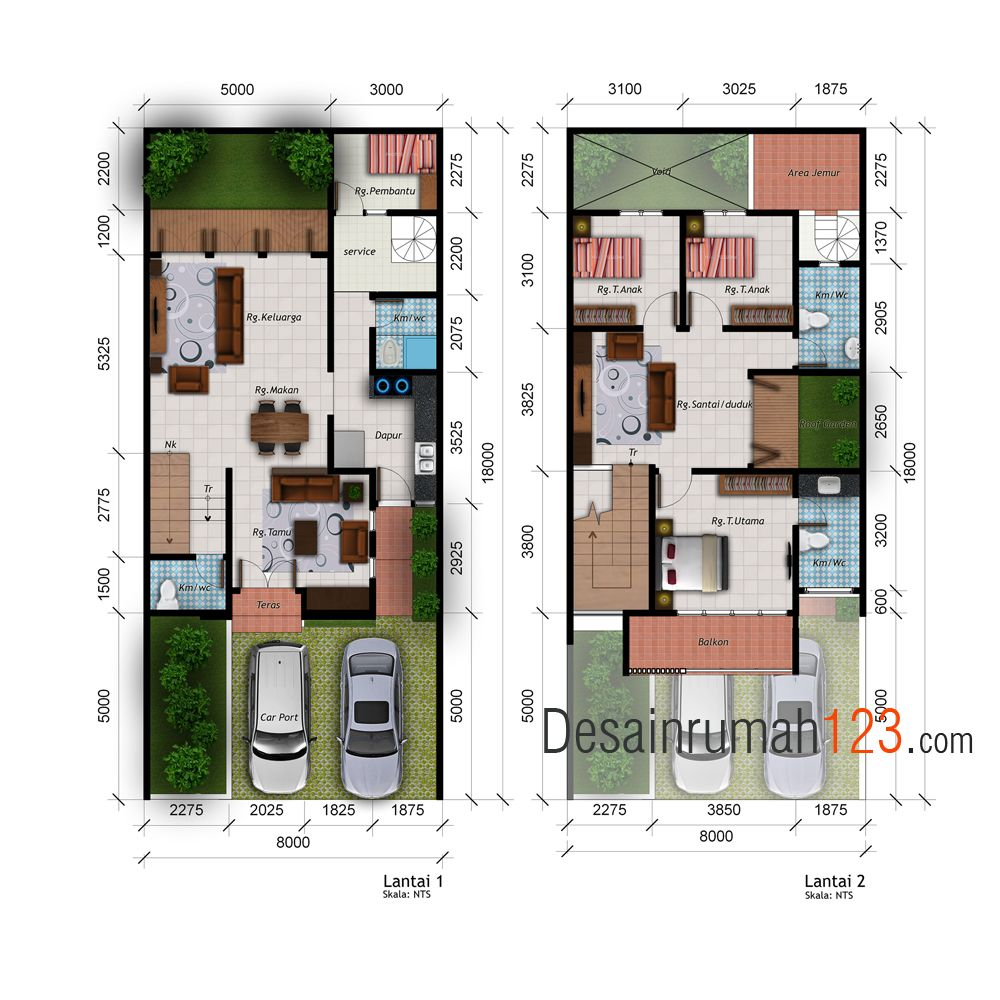 Desain Rumah 2 Lantai Di Lahan 8 X 18 M2 Dr Rm 801 Desain Rumah Jakarta Rumah Desain Rumah 2 Lantai Desain Rumah